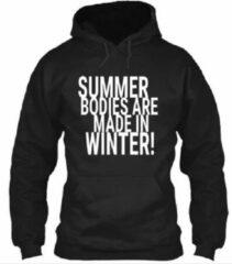 Zwarte Gildan Hoodie sweater | Fitness | Maat Large
