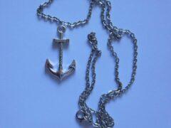 Van Santen Fashion Charm Jewelry Anker Immanuel met ketting zilverkleurig