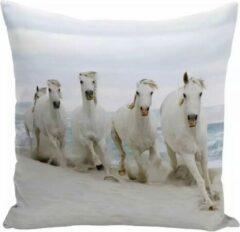 Dierenkussens Kussenhoes met paardenafbeelding - paardenkussen - Sierkussen - 45x45 cm