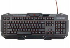 Zwarte Gembird KB-UMGL-01 - Gaming toetsenbord, programmeerbaar met backlight