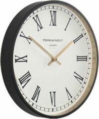 Thomas Kent Wandklok Clocksmith Romeins 30 Cm Staal Wit/zwart