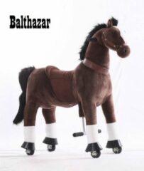 """Kids-Horse Animal Riding, rijdend speelgoed paard, donkerbruin met witte bles en hoef 3-6 jaar, Kids-Horse """"Balthazar"""" (TB-2009S)"""
