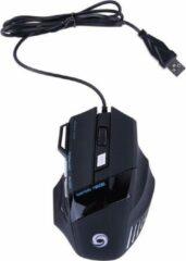 Zwarte Elemental GOods Professionele Muis - Gaming Mouse - Computermuis - Bedraad - Pc
