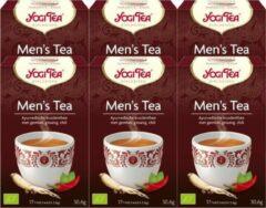 Yogi Tea Men's Tea Voordeelverpakking - 6 pakjes van 17 theezakjes