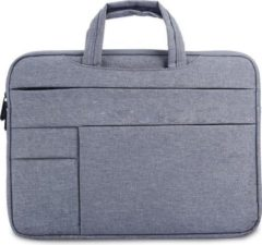 MoKo H621 Laptop Schoudertas opbergvakken 15.4 inch Notebook Tas - Hoes Multipurpose voor Macbook Sleeve Bag Travel Aktetas voor HP DELL Xiaomi - grijs