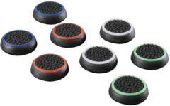"""Zwarte Hama Set control-stick-opzetstukken """"Colors"""" 8in1 voor PS4, gekleurd"""