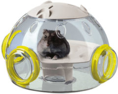 Ferplast Hamster Woonruimte Lab - Dierenverblijf - 22.5x20.7x14.3 cm Transparant