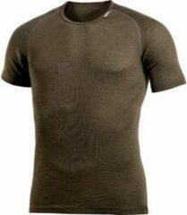 Woolpower - Lite Tee - Merino-ondergoed maat XS, bruin/zwart/olijfgroen