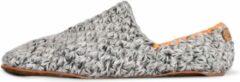 Licht-grijze Kingdom of Wow - Sloffen Heren Wol Soft Grey Maat 40/41 - Duurzaam en Eerlijk Gemaakt
