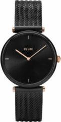 Zwarte CLUSE Triomphe horloge van roestvrijstaal CW0101208004