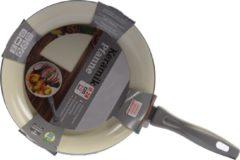 Discountershop Koekenpan - Ø 28cm - Luxe koekenpan van 28cm Anti-aanbaklaag Grijs
