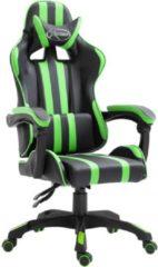 VidaXL Gamingstoel kunstleer groen