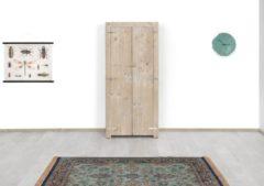 Bruine Merkloos / Sans marque Steigerhouten kast Sophie - steigerhout - 80x63x180h