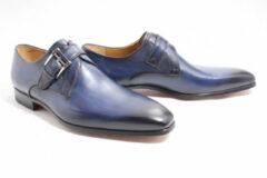 Blauwe Magnanni 14423 gespschoenen