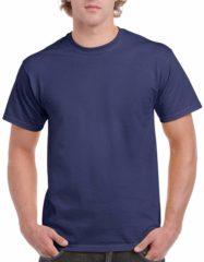 Blauwe Gildan Donkerblauw katoenen shirt voor volwassenen S (36/48)