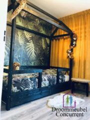 Zwarte Droommeubel Concurrent Bedhuisje Jungle