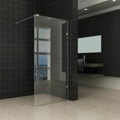 Douche Concurrent Inloopdouche Miami 80x200cm Antikalk Helder Glas Chroom Profielloos 8mm Veiligheidsglas Easy Clean