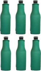 Koozie.eu - 6 stuks bierfleshouder- flessen koel houder   bierfles   Heineken groen