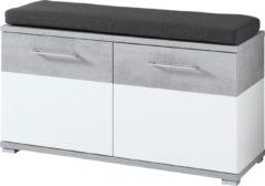 Germania Schoenenbank Topix 51 cm hoog - Wit met Grijs beton