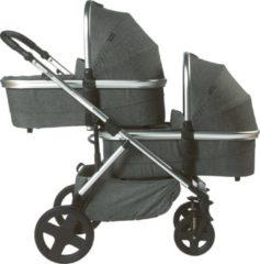 Zilveren Titanium Baby Titaniumbaby Beeyu Orion Duo Kinderwagen - Melange