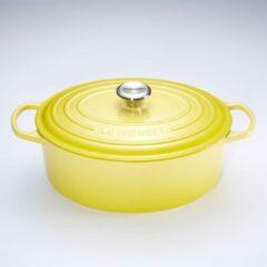 Gele Le Creuset Signature Braadpan - 6,3 liter - 31 cm - Soleil