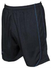 Precision Voetbalbroek Mestalla Junior Polyester Zwart/blauw Maat M/l