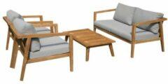 Exotan - Persoon Outdoor Living Exotan Lucca teak houten loungeset - 4-delig