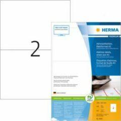 Adresetiketten Herma 8691 Premium vel formaat A5 105x148 mm wit papier mat 800 st.