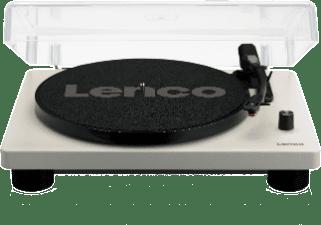 Afbeelding van Grijze Lenco LS-50 wit - Platenspeler met ingebouwde speakers en reserve naald