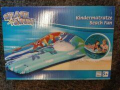 Blauwe Splash & Fun Luchtbed voor kinderen 110 x 60 cm