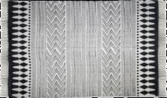 HSM Collection Vloerkleed - katoen - 210x150 cm - zwart/wit