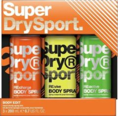 Superdry Sport Body series - Trio body sprays 1 Set