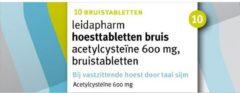 Leidapharm Hoesttabletten Acetylcysteïne 600 mg 10 bruistabletten