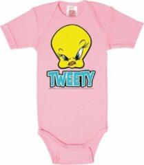 Roze Logoshirt Baby Rompertje Maat 62/68