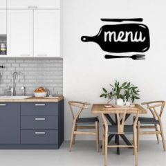Sticker Namenenzo Muursticker Menu - Zwart   Muursticker keuken   Keuken stickers   Decoratie   Keuken decoratie   Muursticker laten maken