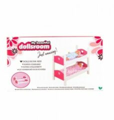 My Beautiful Dolls Room Poppenbed Stapelbed My Beautiful Dollsroom 54x29x43cm