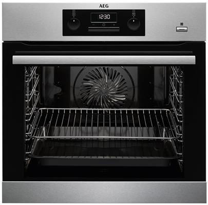 Afbeelding van AEG BEB351010M oven met SteamBake en speciale Pizzastand met gratis AEG A9OZPS1 pizzasteen