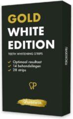 Gouden Puremetik Coconut Charcoal Teeth Whitening Strips | 28x Tandenbleek strips| Wittere tanden| Tandenbleekset |Tanden bleken | Peroxide vrij | 100% Natuurlijk | Thuis gemakkelijk bleken