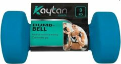 Discountershop 1 x Dumbbell - 3 kg - Dumbbell - Dumbbells - Blauw