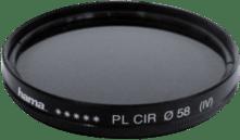 Zwarte Hama Polarisatiefilter - Circulair - AR Coating - 58mm