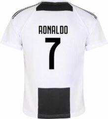Zwarte Holland Juventus Voetbalshirt Ronaldo Thuis Kids/Senior-152