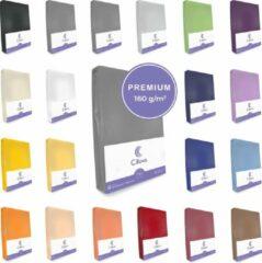 Donkergrijze Cillows Premium Jersey Hoeslaken voor Matras - 180x200 - 200x220 cm - (tot 25 cm hoogte) – Donker Grijs