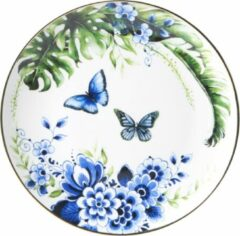 Bord Vlinders middel | Heinen Delfts Blauw | Wandbord | Delfts Blauw bord | Design |