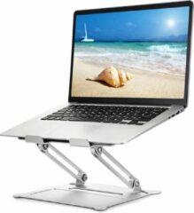 Grijze Laptopstandaard, laptophouder, meerhoekstandaard met warmteventiel, verstelbare notebookstandaard voor laptop tot 17 inch, compatibel voor MacBook Air, Pro, Dell, Samsung, Lenovo, Alienware