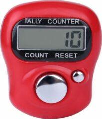 Firsttee Digitale Scoreteller - Compact - Rood - Teller - Personenteller - Handteller - Tally counter - Slagenteller – Golf accessoires – Sport - Training - Cadeau - Golftrainingsmateriaal - Trolley - Mat - Golfballen - Golfset - Trolley - Golftas