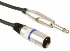 HQ Power Professionele Xlr Kabel.xlr Mannelijk Naar Monojack 6.35mm Mannelijk (3m)