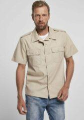 Beige Brandit Blouse - Shirt - Ripstop - Shortsleeve - Urban - Casual - Streetwear Overhemd - Shirt Heren Overhemd Maat 3XL