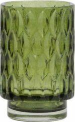 Theelicht Grace - Light & Living - Olijfgroen - Glas