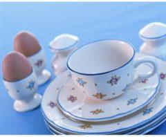 Suppenteller Petite Rose Zeller Keramik Creme