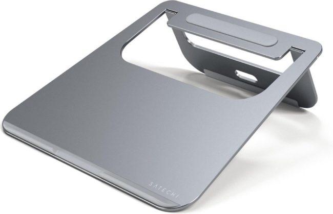 Afbeelding van Grijze Satechi Aluminium Laptop Stand - Space Grey